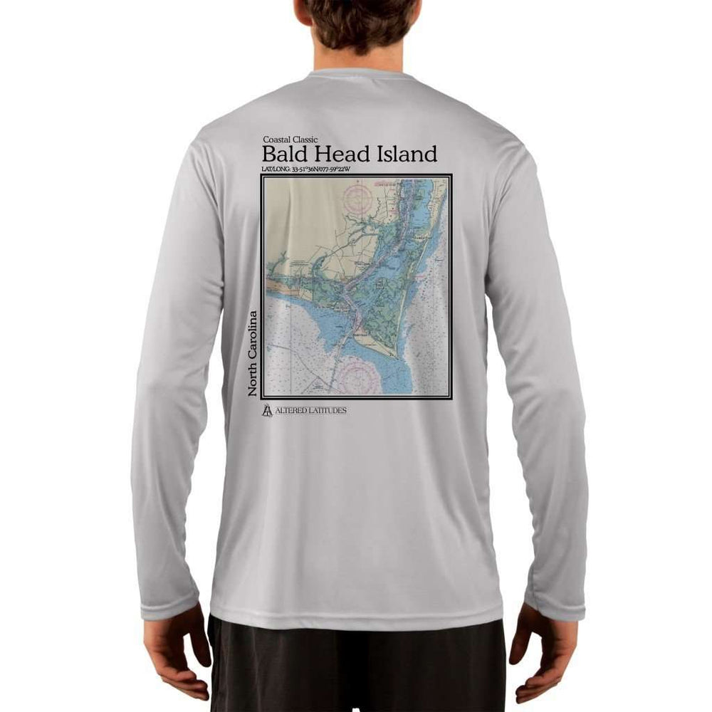 Coastal Classics Bald Head Island Mens Upf 5+ Uv/sun Protection Performance T-Shirt Pearl Grey / X-Small Shirt
