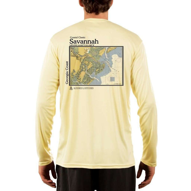 Coastal Classics Savannah Georgia Coast Mens Upf 5+ Uv/sun Protection Performance T-Shirt Pale Yellow / X-Small Shirt