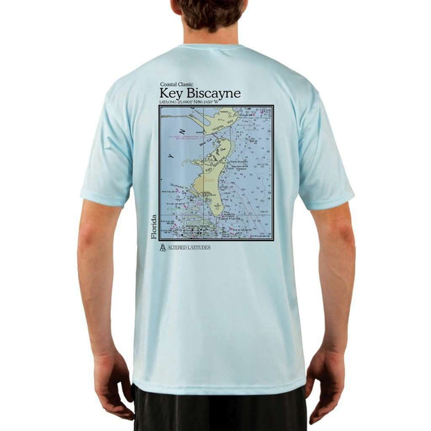 Coastal Classics Key Biscayne Mens Upf 5+ Uv/sun Protection Performance T-Shirt Arctic Blue / X-Small Shirt