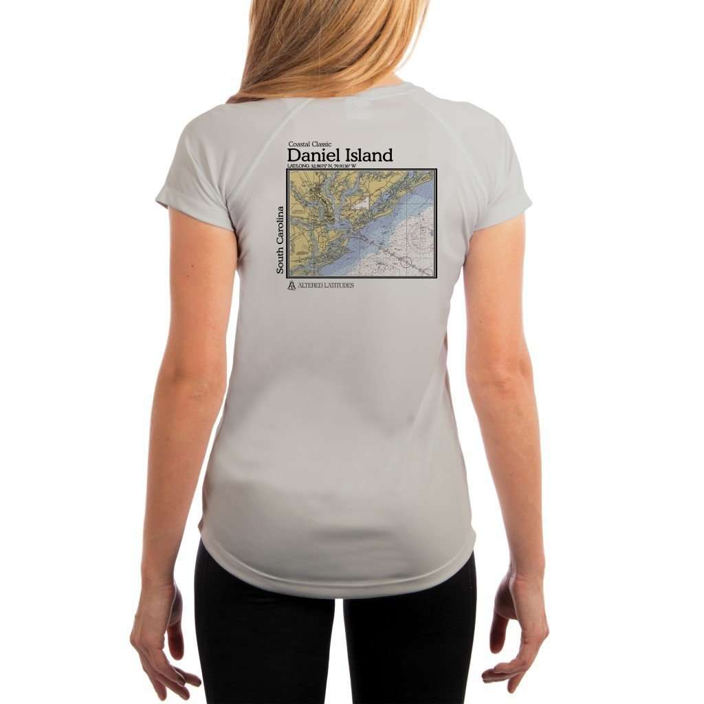 Coastal Classics Daniel Island Womens Upf 5+ Uv/sun Protection Performance T-Shirt Pearl Grey / X-Small Shirt