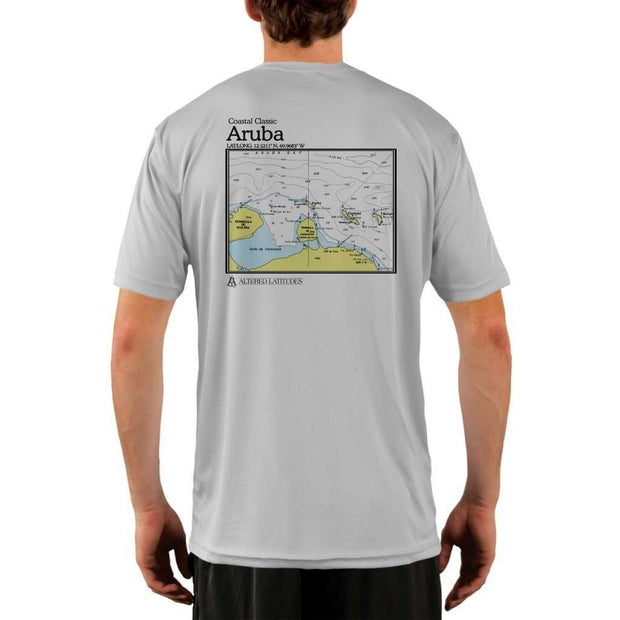 Coastal Classics Aruba Mens Upf 5+ Uv/sun Protection Performance T-Shirt Pearl Grey / X-Small Shirt