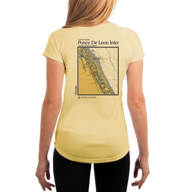 Coastal Classics Ponce De Leon Inlet Womens Upf 5+ Uv/sun Protection Performance T-Shirt Pale Yellow / X-Small Shirt
