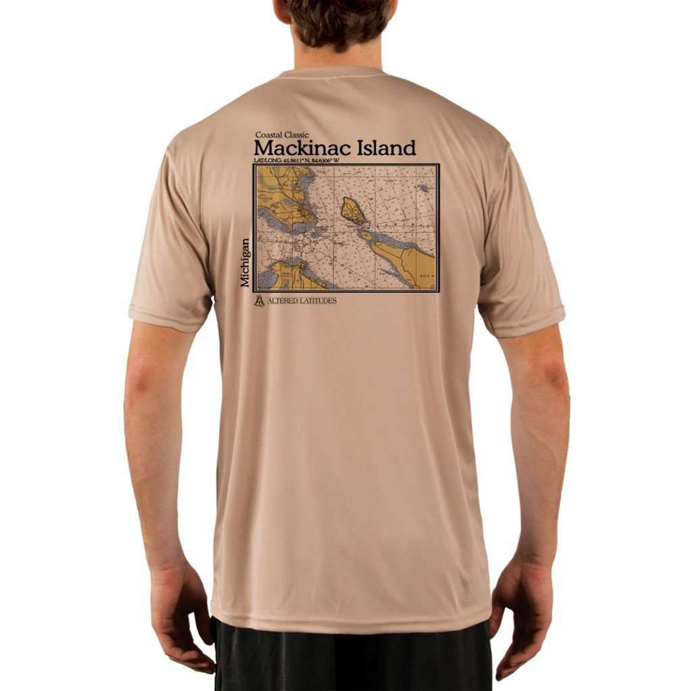 Coastal Classics Mackinac Island Mens Upf 5+ Uv/sun Protection Performance T-Shirt Tan / X-Small Shirt