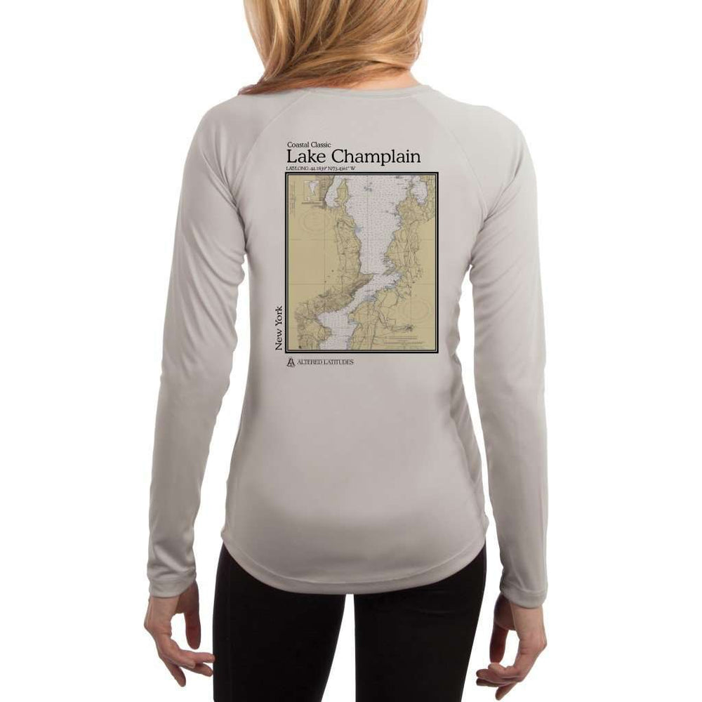 Coastal Classics Lake Champlain Womens Upf 5+ Uv/sun Protection Performance T-Shirt Pearl Grey / X-Small Shirt