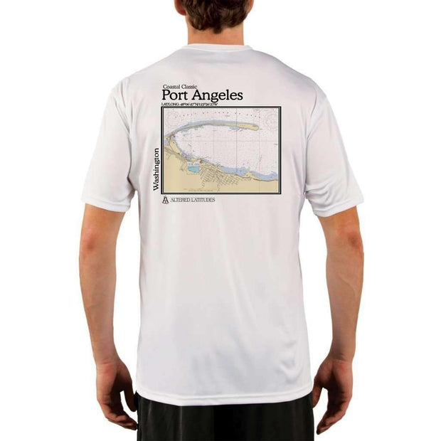 Coastal Classics Port Angeles Mens Upf 5+ Uv/sun Protection Performance T-Shirt White / X-Small Shirt