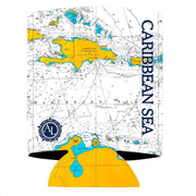 Altered Latitudes Caribbean Sea Chart Standard Can Cooler (4-Pack)