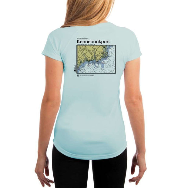 Coastal Classics Kennebunkport Womens Upf 5+ Uv/sun Protection Performance T-Shirt Arctic Blue / X-Small Shirt
