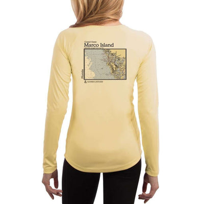 Coastal Classics Marco Island Womens Upf 5+ Uv/sun Protection Performance T-Shirt Pale Yellow / X-Small Shirt