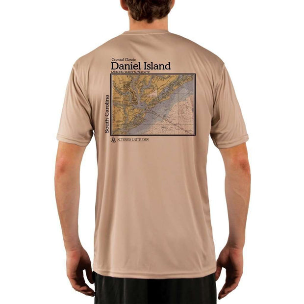 Coastal Classics Daniel Island Mens Upf 5+ Uv/sun Protection Performance T-Shirt Tan / X-Small Shirt