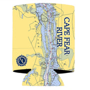 Altered Latitudes Cape Fear River Chart Standard Can Cooler (4-Pack)