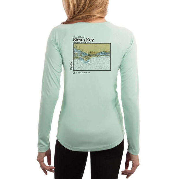Coastal Classics Siesta Key Womens Upf 5+ Uv/sun Protection Performance T-Shirt Seagrass / X-Small Shirt