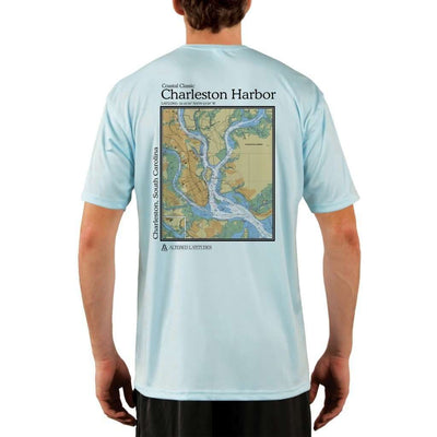 Coastal Classics Charleston Mens Upf 5+ Uv/sun Protection Performance T-Shirt Arctic Blue / X-Small Shirt