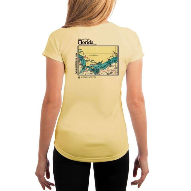Coastal Classics Apalachicola Bay Womens Upf 5+ Uv/sun Protection Performance T-Shirt Pale Yellow / X-Small Shirt