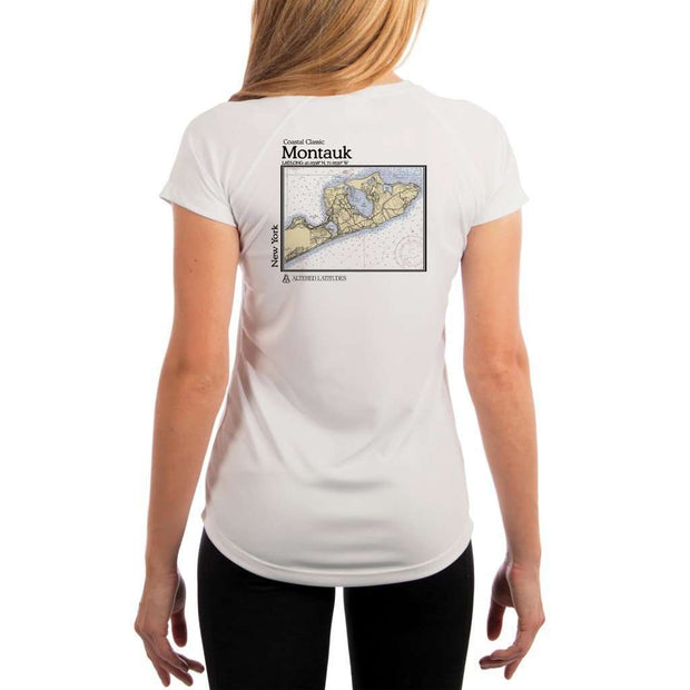 Coastal Classics Montauk Womens Upf 5+ Uv/sun Protection Performance T-Shirt White / X-Small Shirt