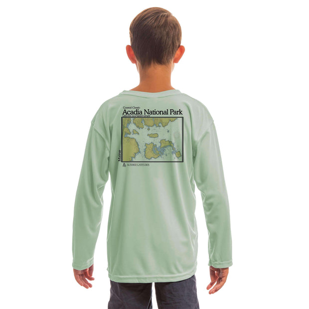Coastal Classics Acadia National Park Youth UPF 5+ UV/Sun Protection Long Sleeve T-Shirt - Altered Latitudes