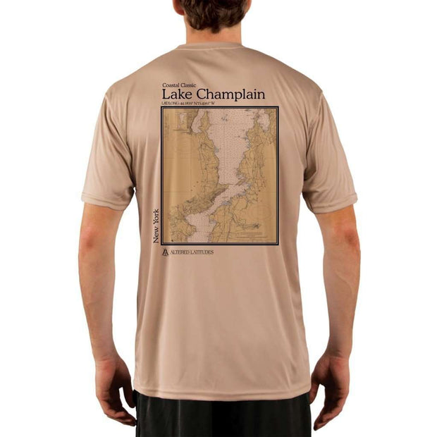 Coastal Classics Lake Champlain Mens Upf 5+ Uv/sun Protection Performance T-Shirt Tan / X-Small Shirt