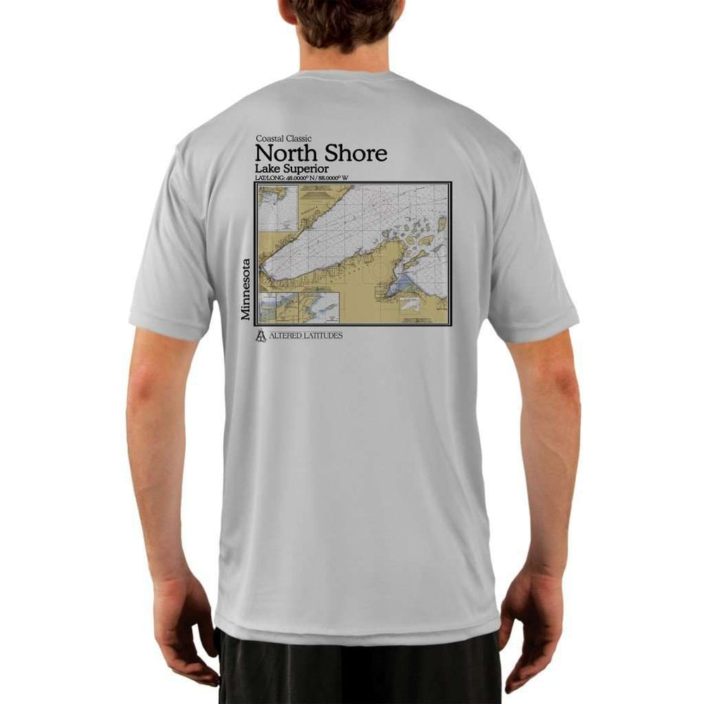 Coastal Classics North Shore Mens Upf 5+ Uv/sun Protection Performance T-Shirt Pearl Grey / X-Small Shirt