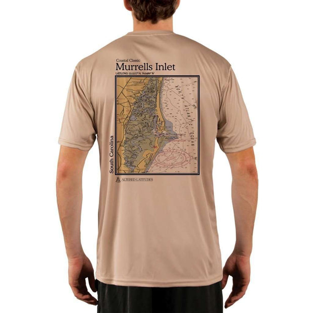 Coastal Classics Murrells Inlet Mens Upf 5+ Uv/sun Protection Performance T-Shirt Tan / X-Small Shirt