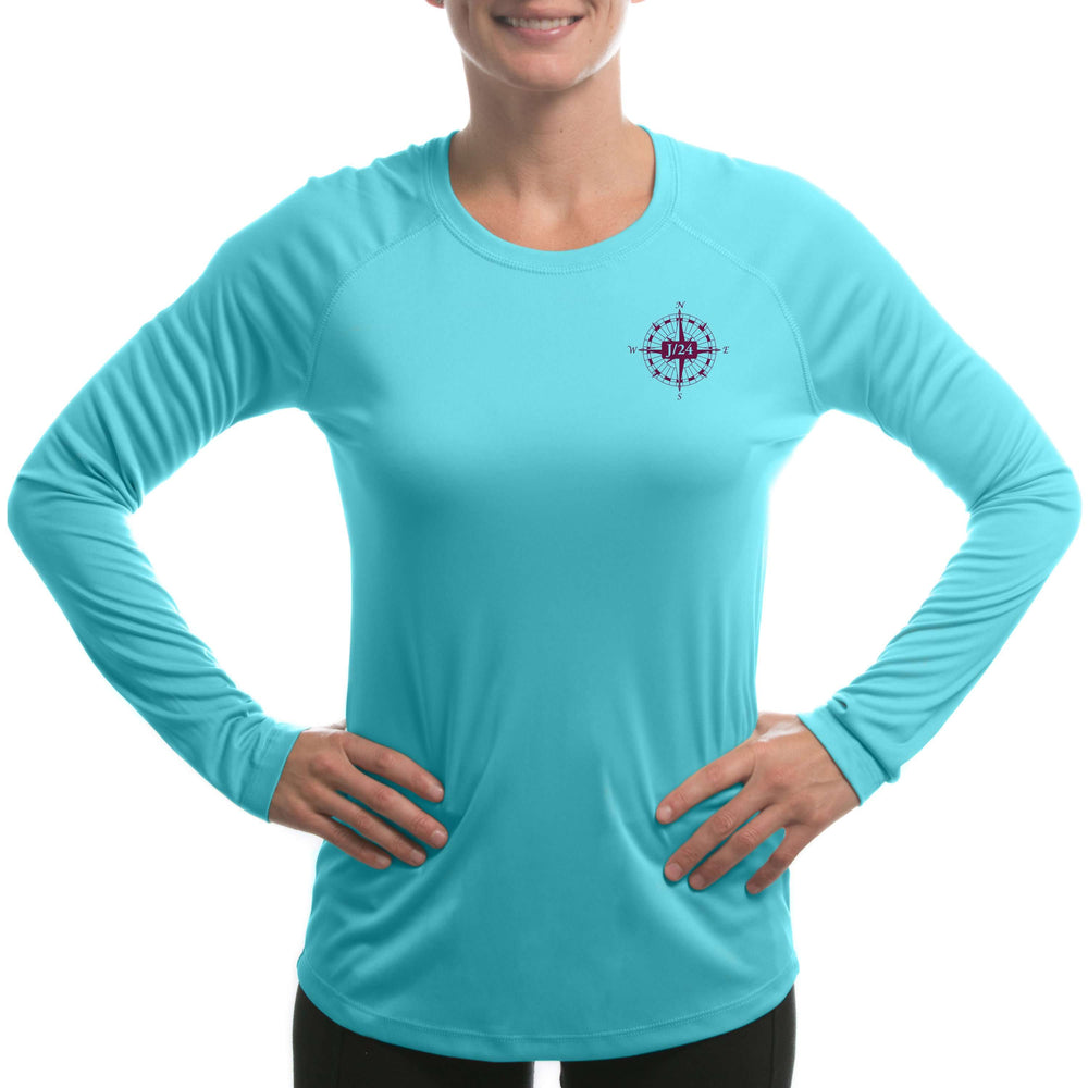 J/24 Class Sailboat Women's UPF 5+ Long Sleeve T-shirt - Altered Latitudes