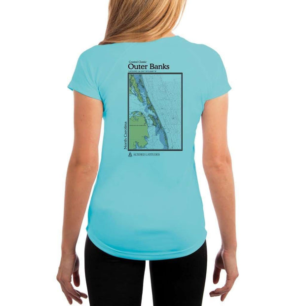 Coastal Classics Outer Banks Womens Upf 5+ Uv/sun Protection Performance T-Shirt Water Blue / X-Small Shirt