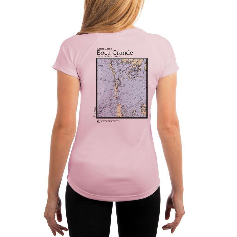 Coastal Classics Boca Grande Womens Upf 5+ Uv/sun Protection Performance T-Shirt Pink Blossom / X-Small Shirt