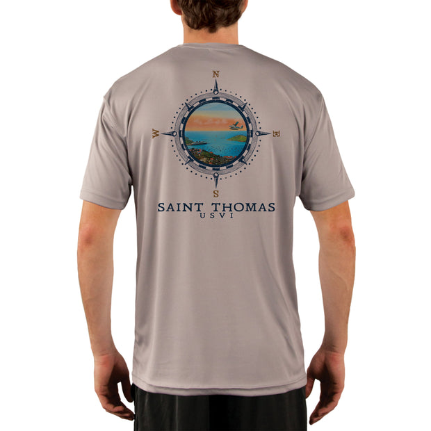 Compass Vintage Saint Thomas Men's UPF 50+ Short Sleeve T-shirt