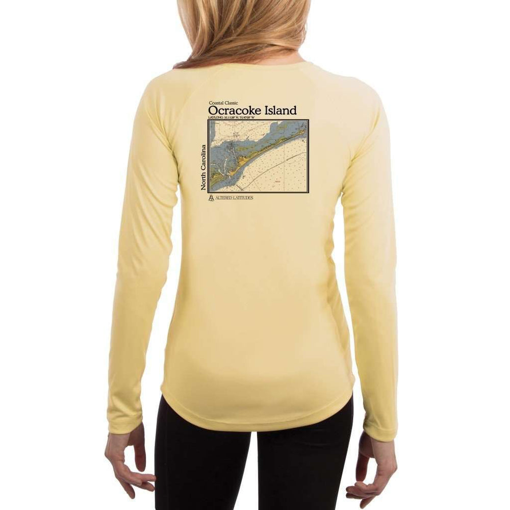 Coastal Classics Ocracoke Island Womens Upf 5+ Uv/sun Protection Performance T-Shirt Pale Yellow / X-Small Shirt