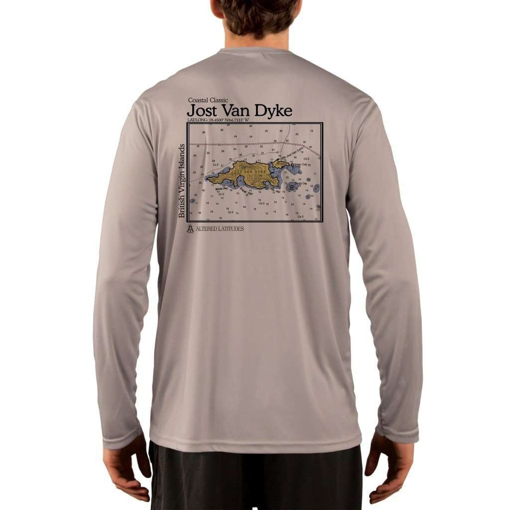 Coastal Classics Jost Van Dyke Mens Upf 5+ Uv/sun Protection Performance T-Shirt Athletic Grey / X-Small Shirt