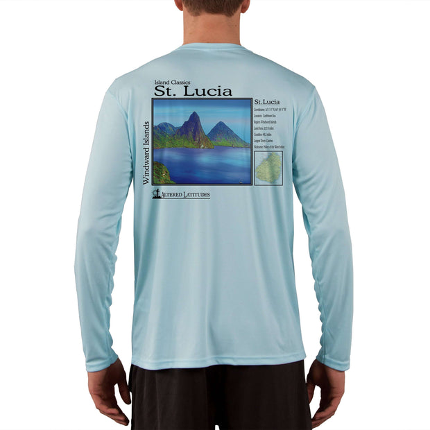 Island Classics St. Lucia Men's UPF 50+ UV Sun Protection Long Sleeve T-Shirt