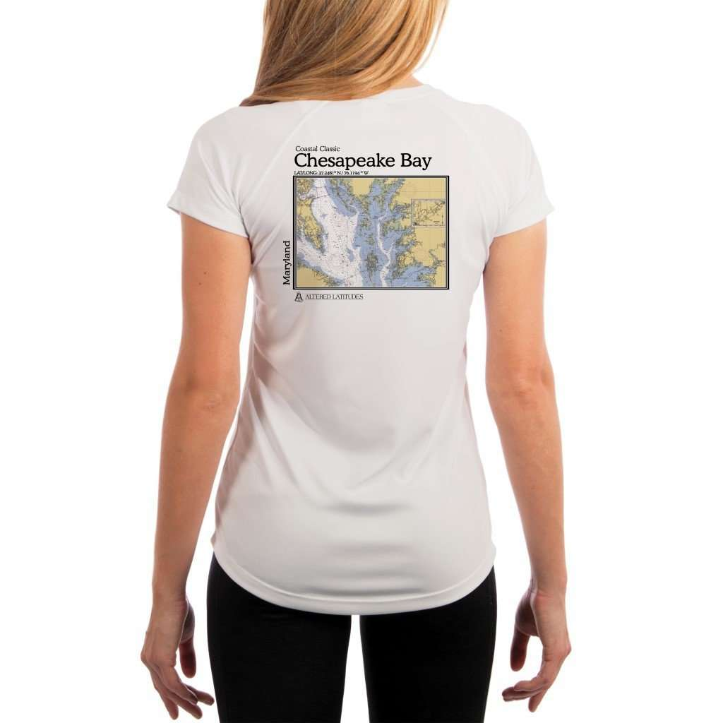 Coastal Classics Chesapeake Bay Womens Upf 50+ Uv/sun Protection Performance T-Shirt White / X-Small Shirt
