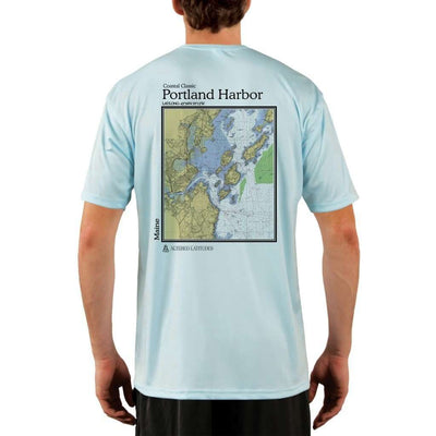 Coastal Classics Portland Harbor Mens Upf 5+ Uv/sun Protection Performance T-Shirt Arctic Blue / X-Small Shirt