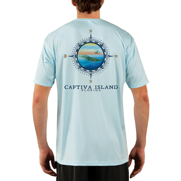 Compass Vintage Captiva Island Men's UPF 50+ Short Sleeve T-shirt