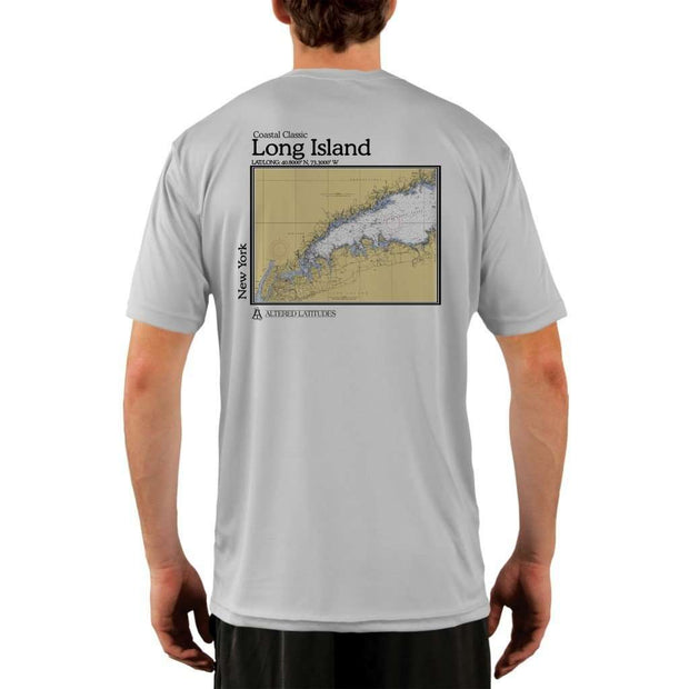 Coastal Classics Long Island Mens Upf 5+ Uv/sun Protection Performance T-Shirt Pearl Grey / X-Small Shirt