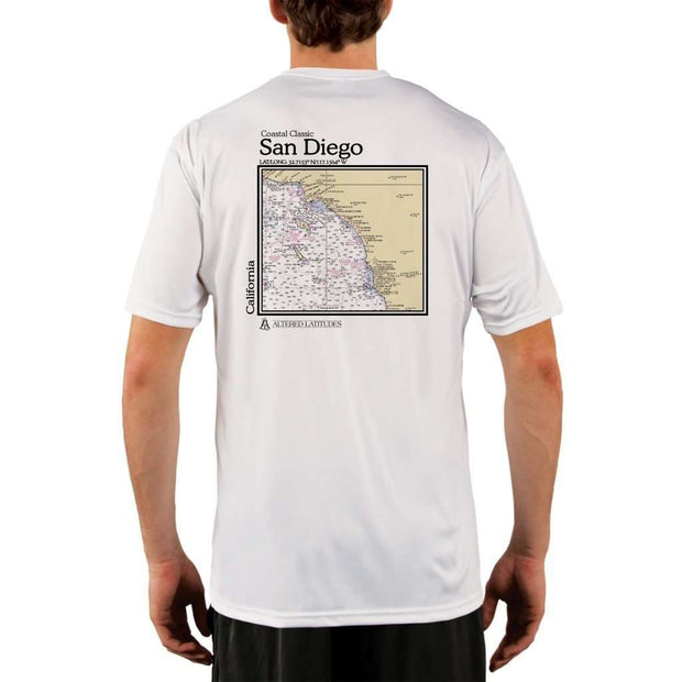 Coastal Classics San Diego Mens Upf 5+ Uv/sun Protection Performance T-Shirt White / X-Small Shirt