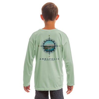 Compass Vintage Annapolis Youth UPF 50+ UV/Sun Protection Long Sleeve T-Shirt
