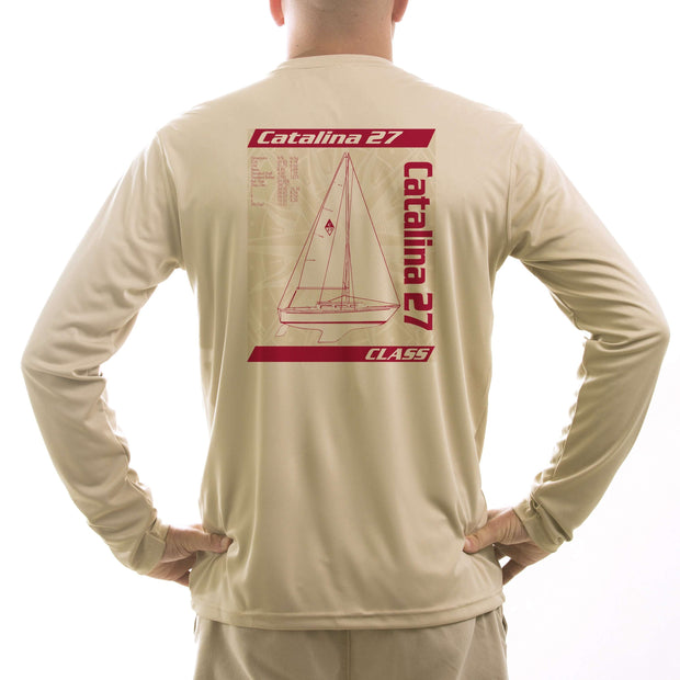 Catalina 27 Class Sailboat Men's UPF 5+ Long Sleeve T-Shirt - Altered Latitudes