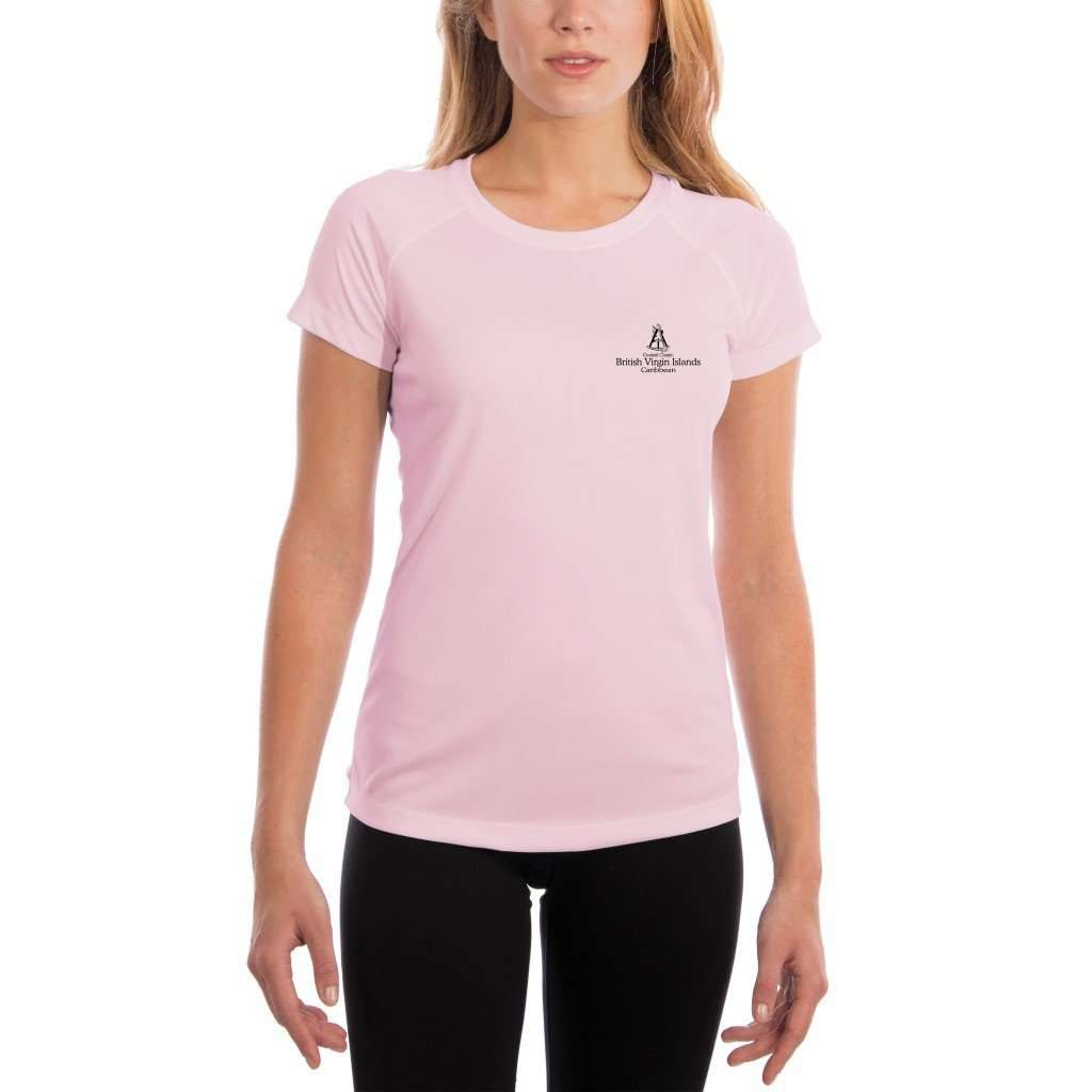 Coastal Classics British Virgin Islands Womens Upf 50+ Uv/sun Protection Performance T-Shirt Shirt