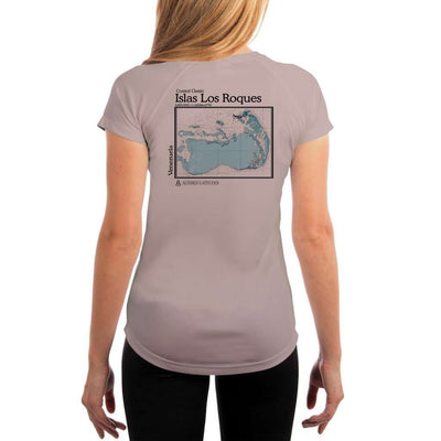 Coastal Classics Islas Los Roques Womens Upf 5+ Uv/sun Protection Performance T-Shirt Athletic Grey / X-Small Shirt