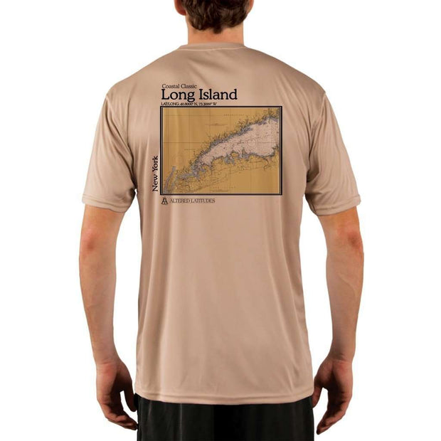 Coastal Classics Long Island Mens Upf 5+ Uv/sun Protection Performance T-Shirt Tan / X-Small Shirt