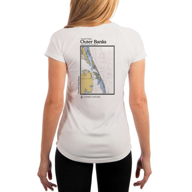 Coastal Classics Outer Banks Womens Upf 5+ Uv/sun Protection Performance T-Shirt White / X-Small Shirt