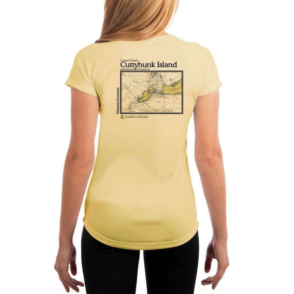 Coastal Classics Cuttyhunk Island Womens Upf 5+ Uv/sun Protection Performance T-Shirt Pale Yellow / X-Small Shirt