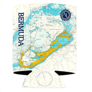 Altered Latitudes Bermuda Chart Standard Can Cooler (4-Pack)