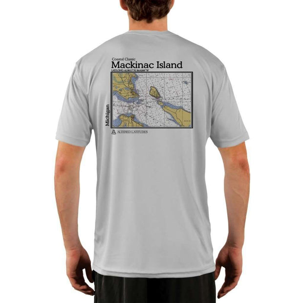 Coastal Classics Mackinac Island Mens Upf 5+ Uv/sun Protection Performance T-Shirt Pearl Grey / X-Small Shirt