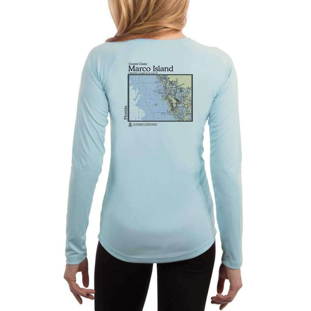 Coastal Classics Marco Island Womens Upf 5+ Uv/sun Protection Performance T-Shirt Arctic Blue / X-Small Shirt