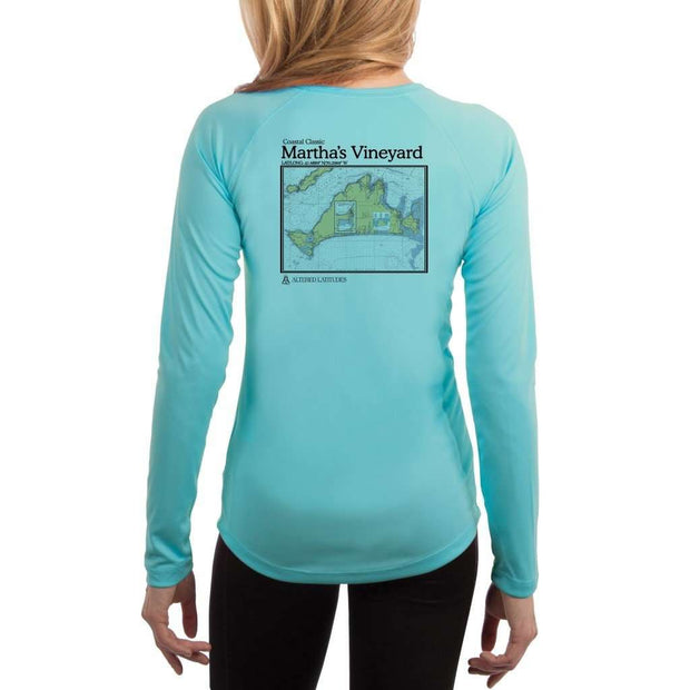 Coastal Classics Marthas Vineyard Womens Upf 5+ Uv/sun Protection Performance T-Shirt Water Blue / X-Small Shirt