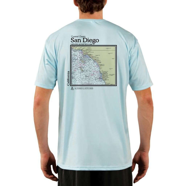 Coastal Classics San Diego Mens Upf 5+ Uv/sun Protection Performance T-Shirt Arctic Blue / X-Small Shirt