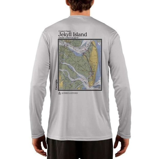 Coastal Classics Jekyll Island Mens Upf 5+ Uv/sun Protection Performance T-Shirt Pearl Grey / X-Small Shirt