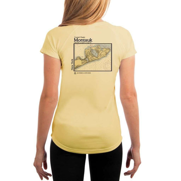 Coastal Classics Montauk Womens Upf 5+ Uv/sun Protection Performance T-Shirt Pale Yellow / X-Small Shirt
