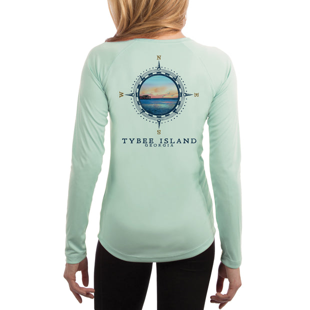 Compass Vintage Tybee Island Women's UPF 50+ Long Sleeve T-shirt