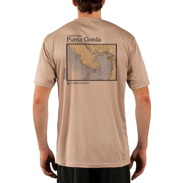 Coastal Classics Punta Gorda Mens Upf 5+ Uv/sun Protection Performance T-Shirt Tan / X-Small Shirt